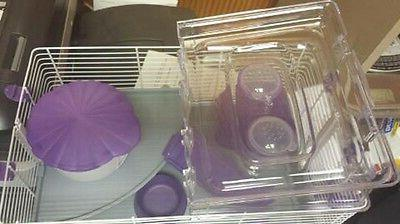 HAMSTER PURPLE GREAT CAGE FOR HAMSTERS!
