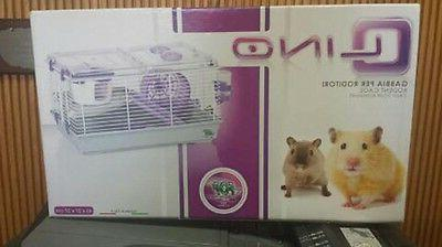 HAMSTER CAGE PURPLE GREAT HAMSTERS!