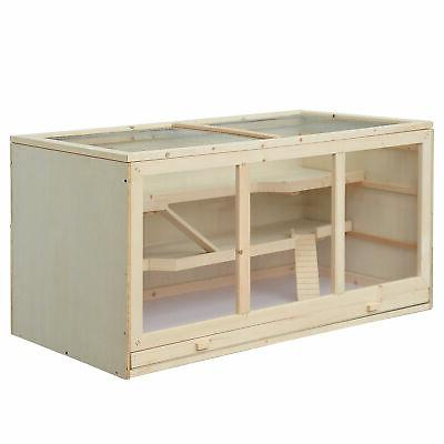 PawHut Cage Animals Hutch Mice Exercise House