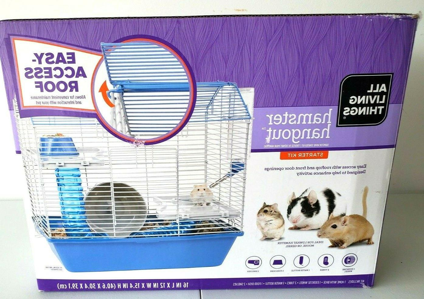 Hamster Set Exercise Wheel, Tubes, & Bowl