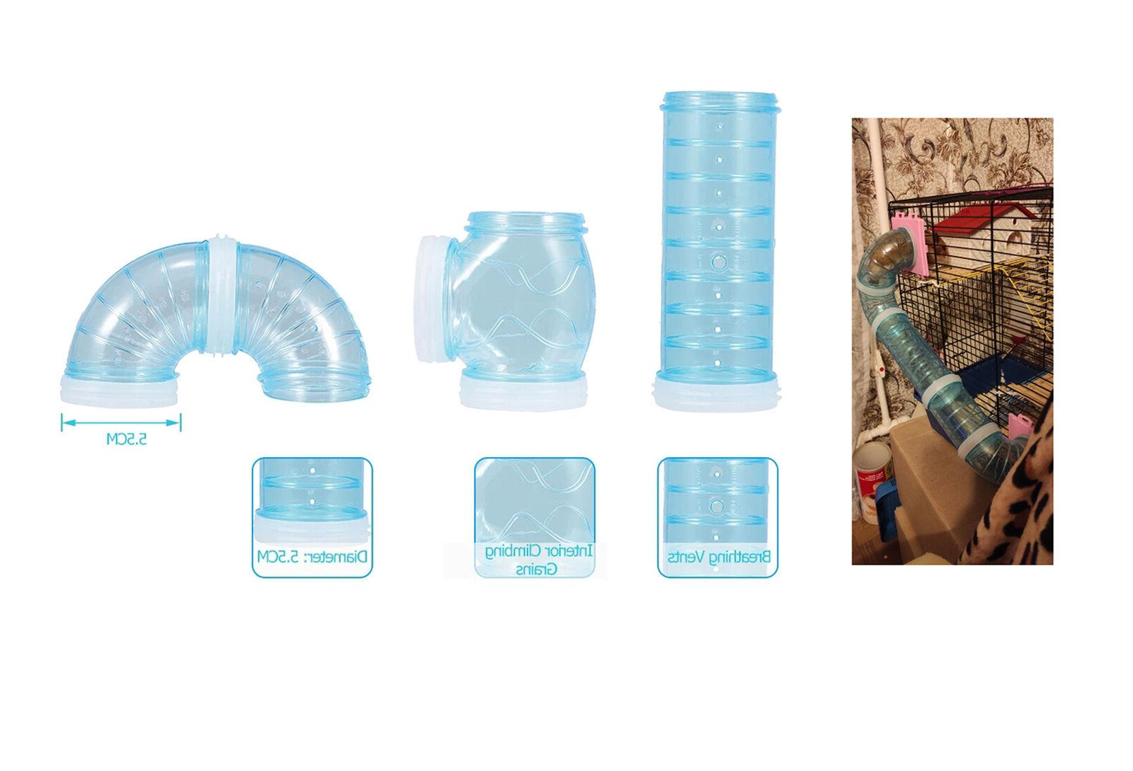 Hamster Tunnel Toy DIY Set with 2Pcs Color Adapter