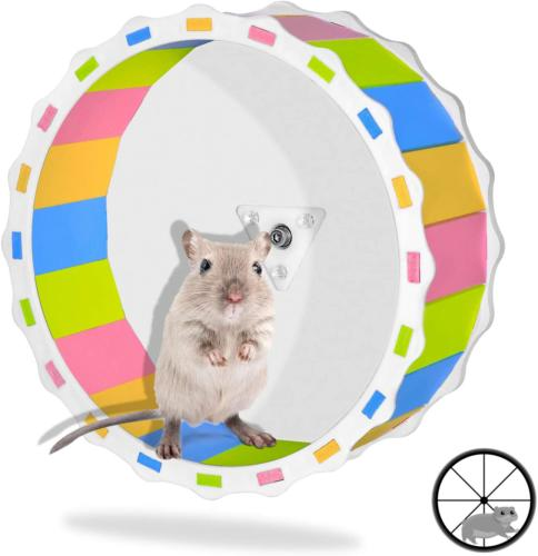 hamster wheel toy silent exercise diameter cage
