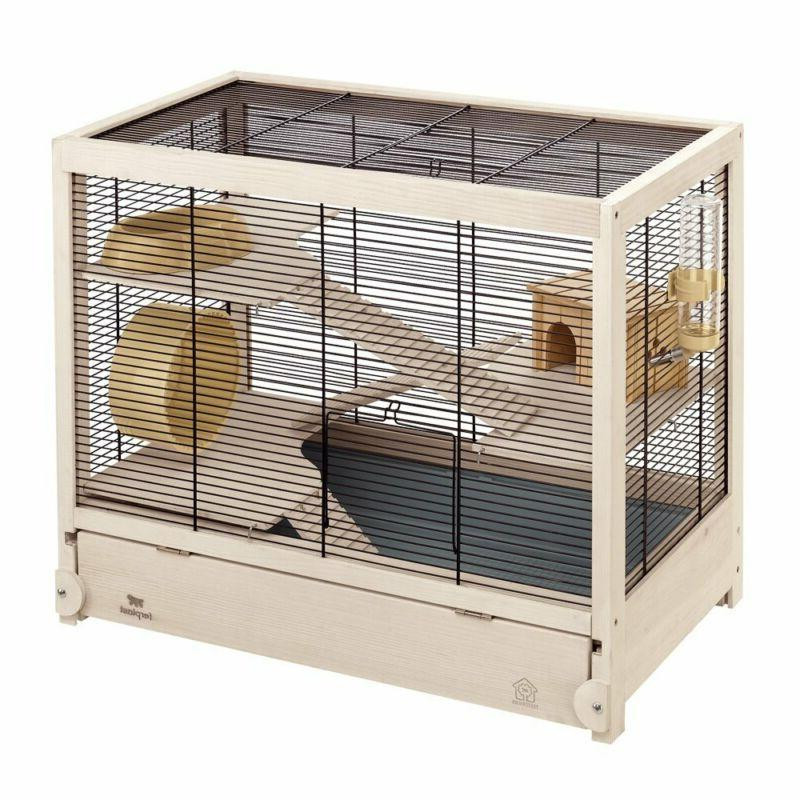 hamsterville hamster habitat cage sturdy wooden structure