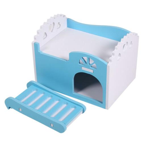 House Bed Cage Small Hedgehog Castle W/Slide