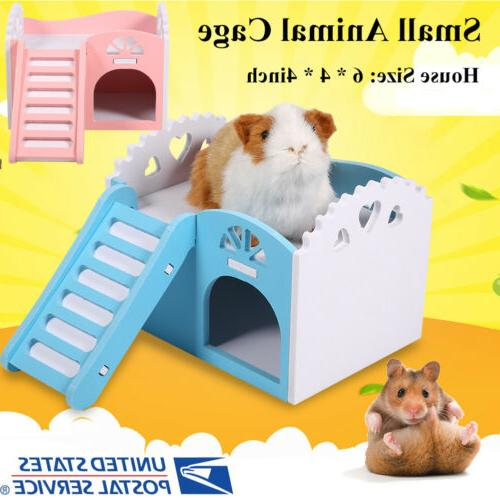 House Bed Cage Small Animal Pet Hedgehog W/Slide
