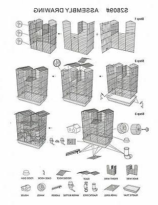 Large 5 Floor Tower Dagus Habitat Cage
