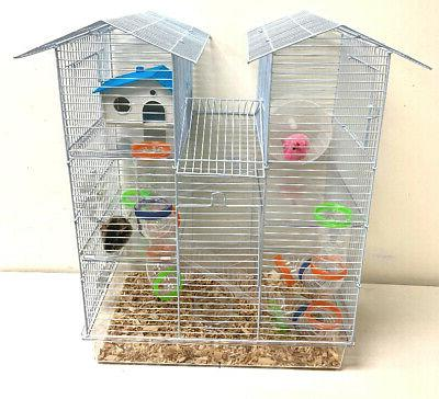 large twin tower syrian hamster habitat rodent