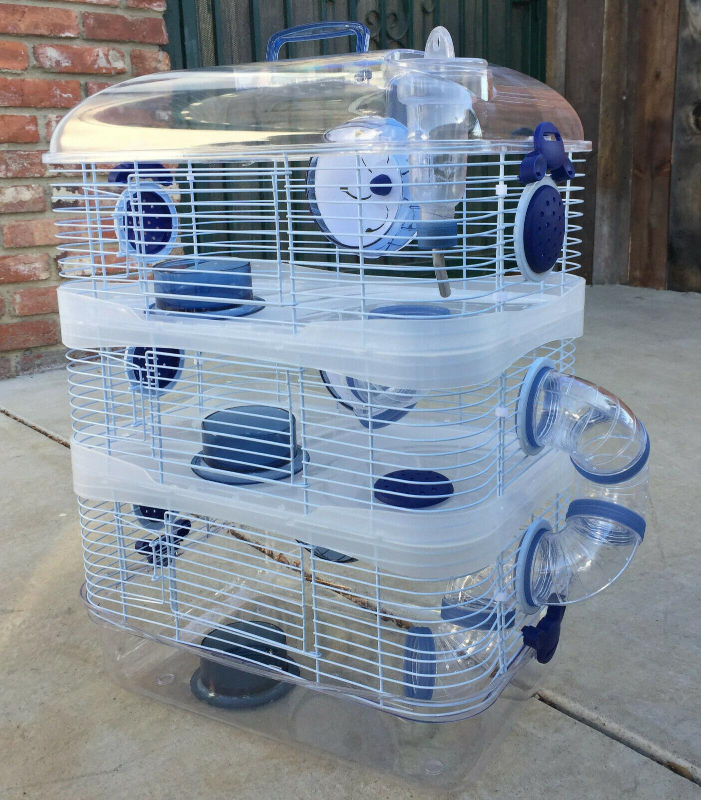 acrylic clear 3 solid level hamster rodent