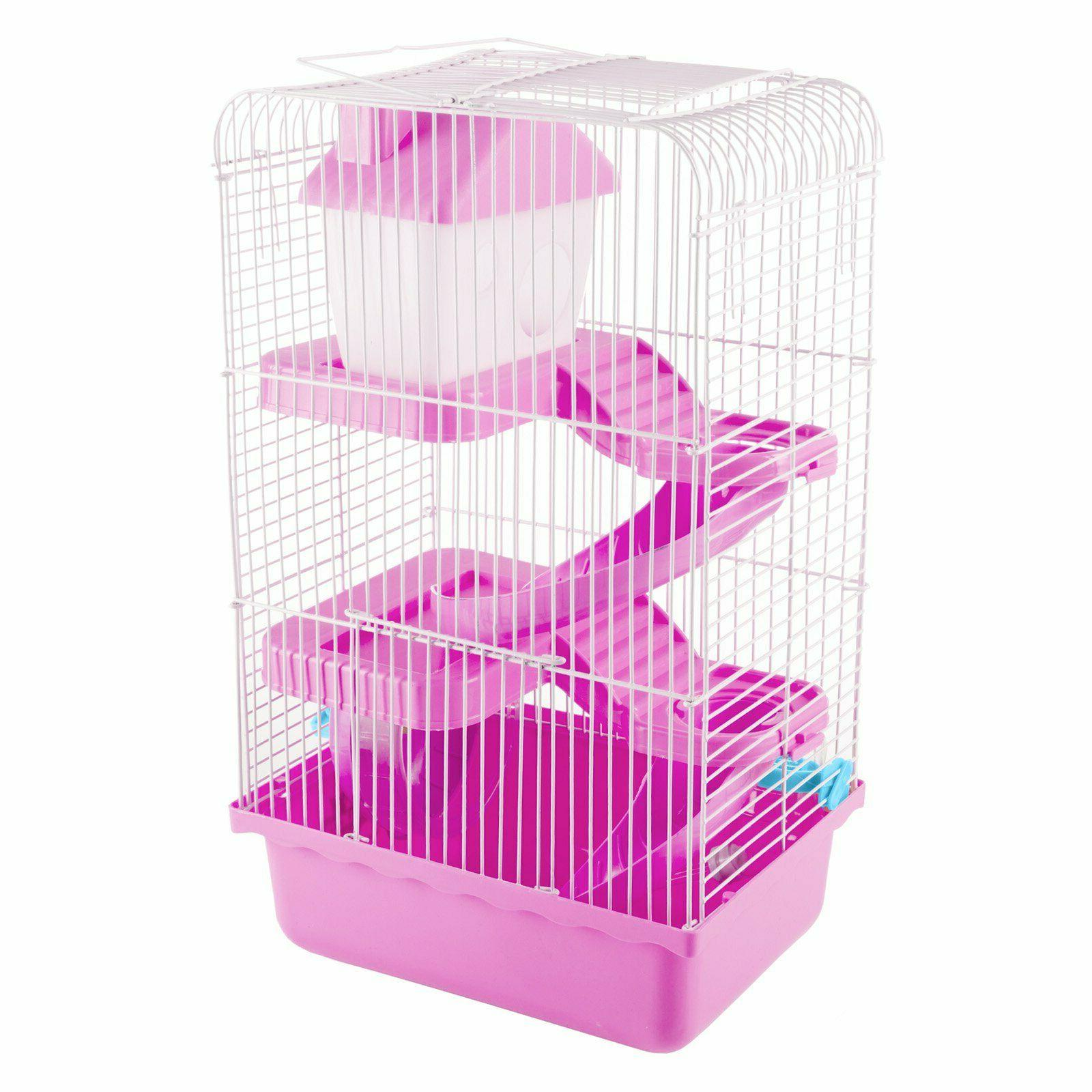 NEW PetMaker Small Animal Hamster Wire Cage House Pink or Blue