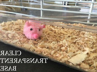 4-Floors Clear Rodent Gerbil With Top