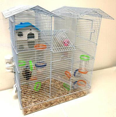 new 5 floors large twin tower hamster