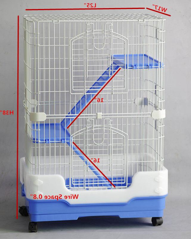 New Homey Pet Small Animals Ferret Cage Crate House w