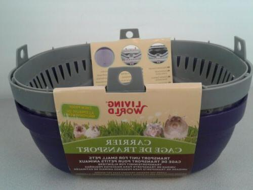 Living World Pet Carrier, Purple/Grey