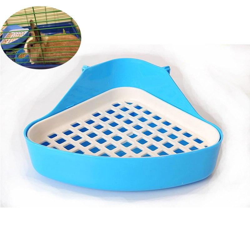 Pet Rabbit Toilet <font><b>Hamster</b></font> <font><b>cage</b></font> Pig Tray Litter Training Tray