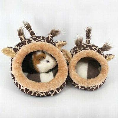 Guinea Pig Hamster Nest Cage Bed Small Animal House Warm Pad