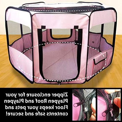 ToysOpoly Premium Pet Playpen Large Indoor/Outdoor Kennel for Cat, Fabric