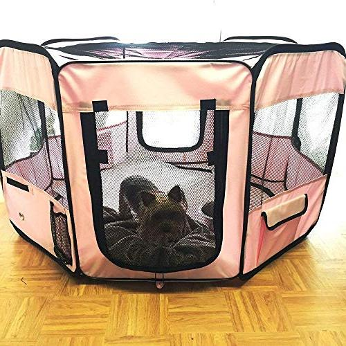 ToysOpoly #1 Indoor/Outdoor Kennel Your Cat, or Pig. Fabric Pen Travel
