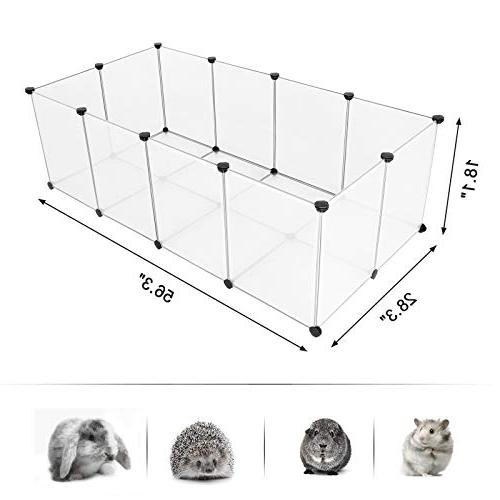 "Cage Exercise and Crate, Transparent Plastic L W x 18.1"" H ULPC02W"