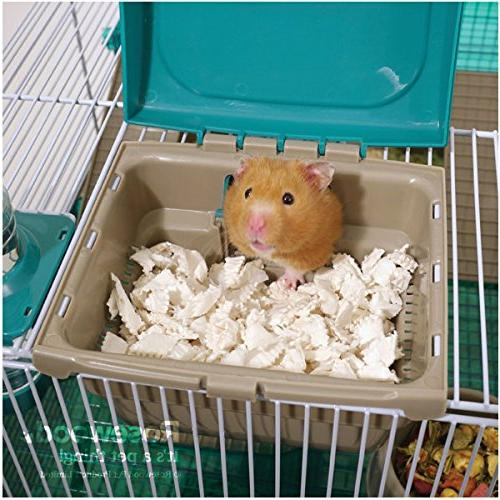 Pico Translucent Teal Hamster & Home/Cage