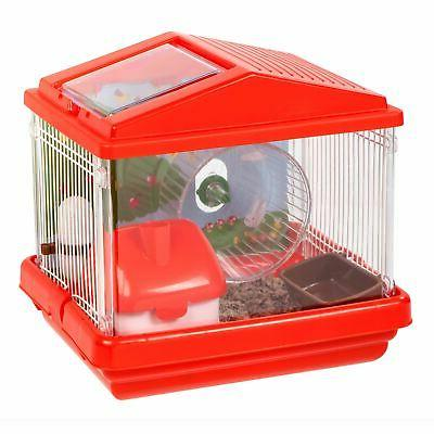 plastic and wire medium hamster cage