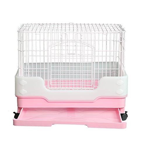 "Homey Pet Hamster Ferret with Pull out Urine Lockable Casters, L26""x H21"""
