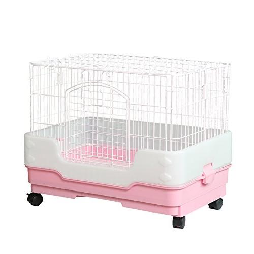 Homey Pet Chinchilla Hamster with Urine Guard Casters, H21""