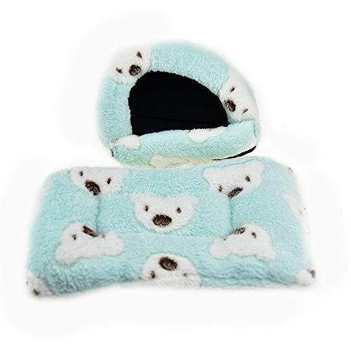 FLAdorepet House Bed Winter Small Squirrel Bed House Hamster Accessories