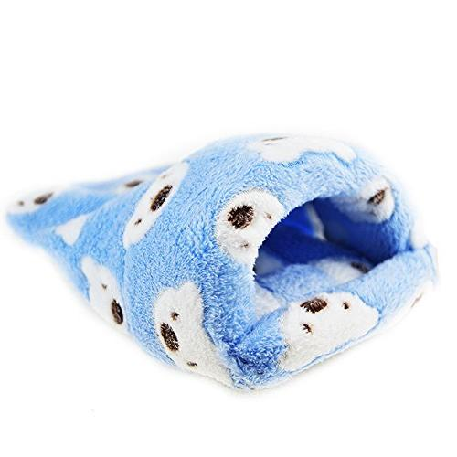 FLAdorepet Rat Hamster Bed Small Pet Squirrel Hedgehog Chinchilla Pig Bed House Cage Hamster Accessories