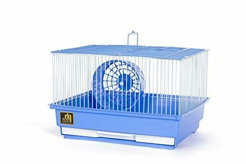 single story hamster and gerbil cage blue