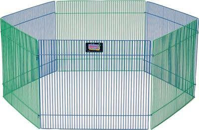 Small Pet Animal Exercise Play Pen Portable Fence Cage Indoo