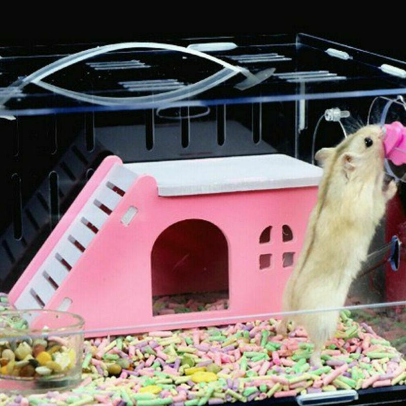 Pet Small Animal Castle Hamster House Bed Cage Nest Guinea P