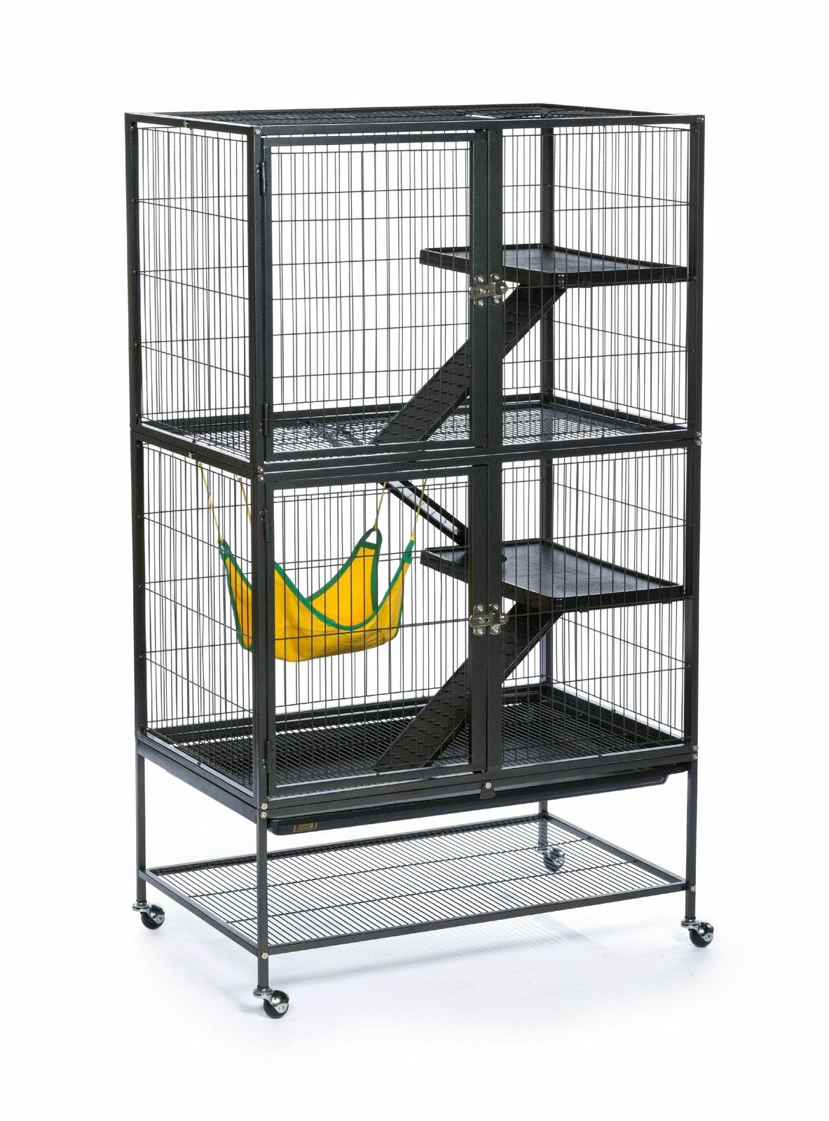 Feisty Ferret Cage Habitat with Caster Hammertone