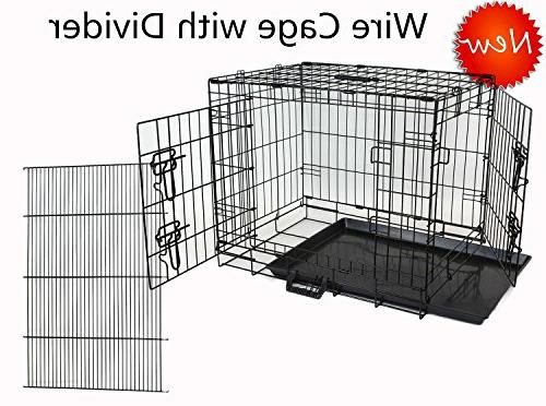wire folding portable dog cage