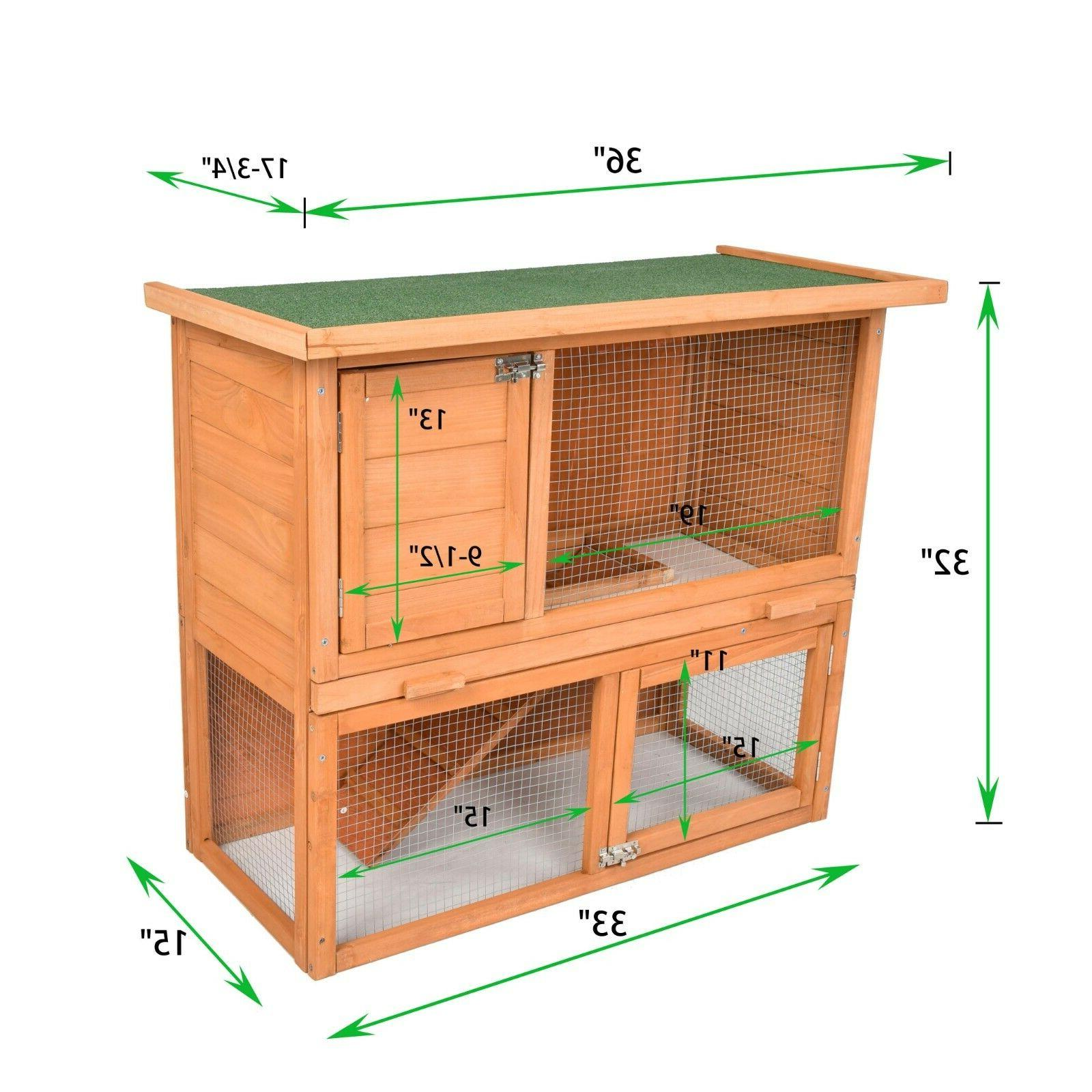 Wooden Coop Cage PET Outdoor W/ Run 80'