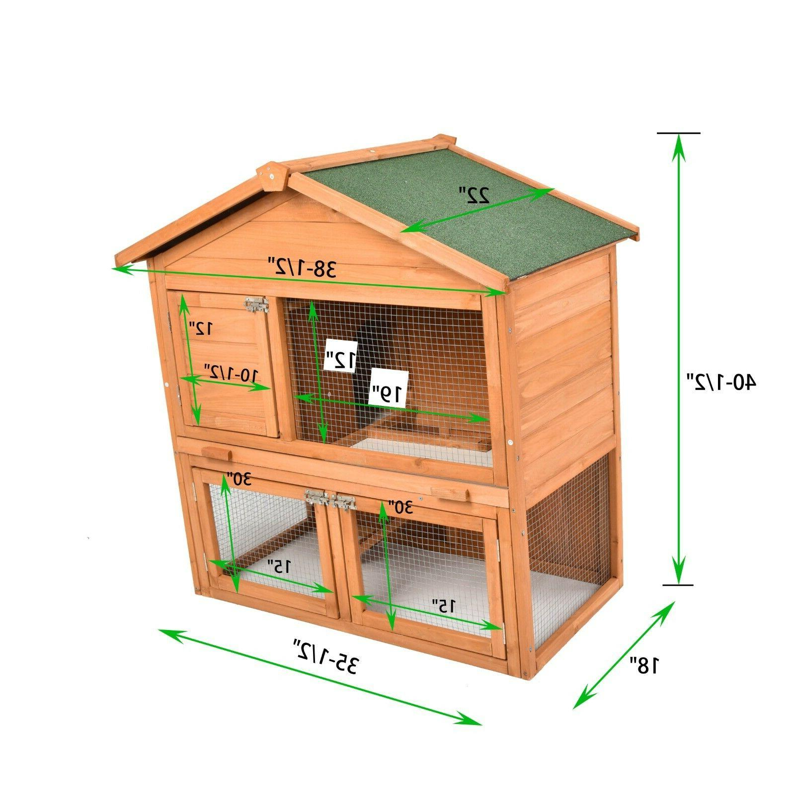Wooden Chicken Cage PET Outdoor Indoors 80'