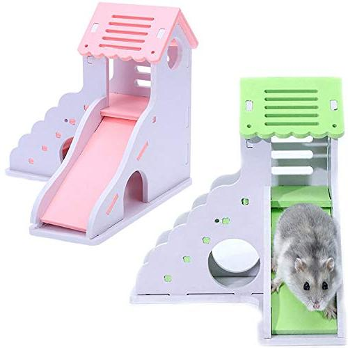 Kathson Wooden House, Hamster Non-Toxic Two Wooden