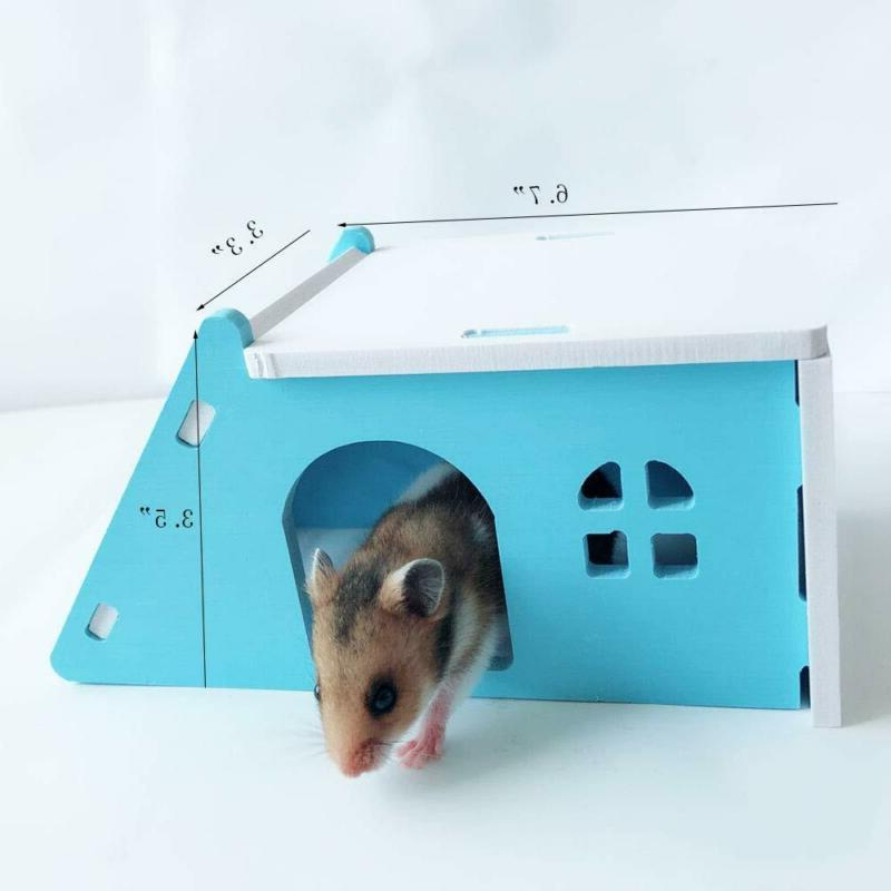 Wooden Hamster House,Hideout Exercise Funny Nest Toy
