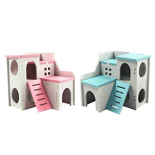 Kathson Wooden Hamster Hideout Exercise Small Hamster and Mouse