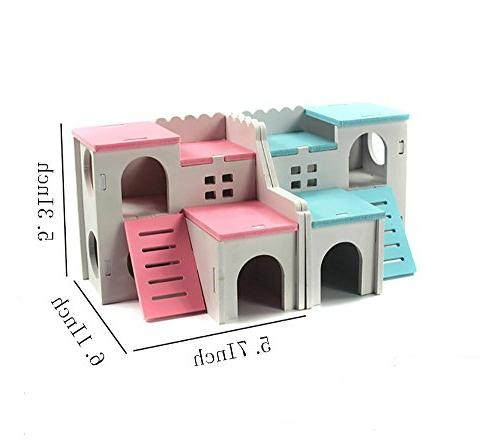 Kathson Hideout Rat Hideaway Exercise Toys for Small Dwarf Hamster and Mouse