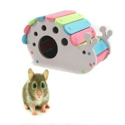 Wooden Hamster Pet Colorful Small Exercise Nest