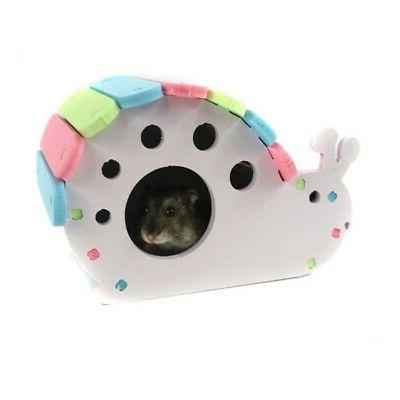 Wooden Hamster Pet Colorful Small Animal Cage Exercise Funny Nest