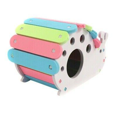 Wooden Hamster Pet Colorful Exercise Hut