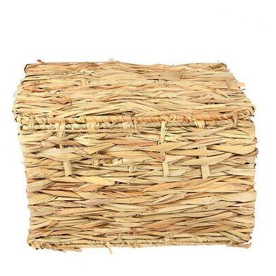 Woven Grass Rabbit Cage Nest Toy Bed