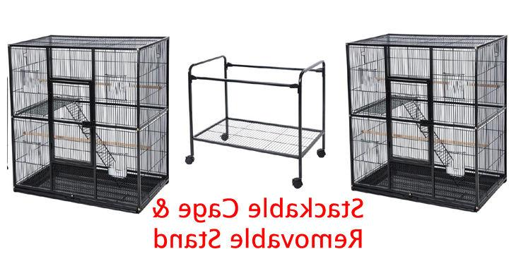 """X-LARGE 76"""" Double Stackable Guinea Pig Rat Hamster Critter Cage *"""