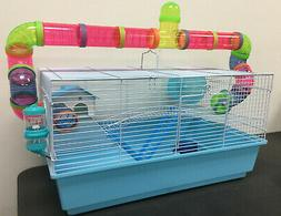 Large 2-Level Habitat Hamster Rodent Gerbil Mouse Mice Cage