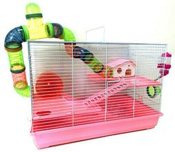 """Large 24"""" 3-Floors Hamster Habitat Crossover Tube Home Cage"""