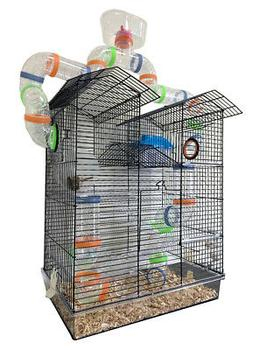 Large 5-Floor Twin Tower Dwarf Hamster Habitat Rodent Gerbil