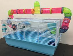 Large Habitat Hamster Rodent Gerbil Mouse Mice Cage Long Cro