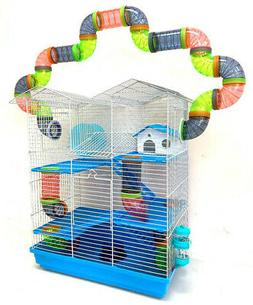 Large Twin Tower Crossover Tube Hamster Habitat Rodent Gerbi