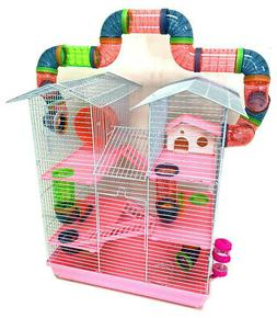 5-Level Large Twin Tower Syrian Hamster Habitat Rodent Gerbi